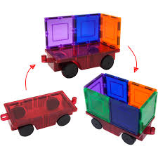 Picasso Tiles Magnetic Building Blocks by Picassotiles 2 Pc 3d Magnetic Car Truck Set For Magnet Building
