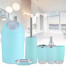 details zu 6tlg badset badezimmer zubehör seifenspender klobürste wc badgarnitur zubehör bn