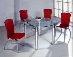 ROUND ADJUSTABLE 4 6 SEATS GLASS DINNING TABLE