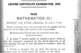 92 Years Of The Leaving Cert Was Science More Difficult In 1925