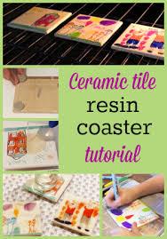 resin tile coaster tutorial resin obsession