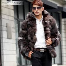leathercoatsetc mens genuine rabbit fur hooded jacket discount