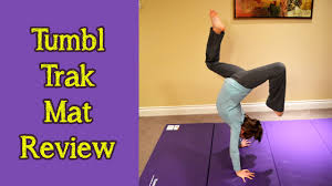 tumbl trak gymnastics mat review by bethany g youtube