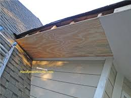 Insulate Cathedral Ceiling Without Ridge Vent by Replace Rotted Soffit New Section Of Plywood Soffit Installed