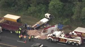 Deli Meat Truck Collides With Bread Truck On New Jersey Highway ... Investigators Probe Cause Of School Bus Crash That Killed 2 Naples Nj Transit Bus Driver Killed After Headon Crash With Garbage Truck Truck Crashed Into A Wooded Area Goffle Brook Park In New Jersey Police 3 Seriously Injured In Woman Struck By Dump Union Citytuesday Morning 1 Cop Dead Injured After Headon Nyc The Morning Call Hurt On Route 70 Pemberton Twp Two 43 Torn Apart Tanker Accident Turnpike Dozens When Collides With