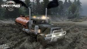 100 Big Trucks Mudding Videos SpinTires SEMI TRUCK MUDDING YouTube