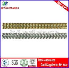 20x300 ceramic embossed skirting golden border tiles curved border