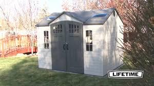 lifetime 60095 10 x 8 hdpe garden storage shed youtube