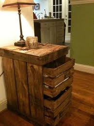Pallet Wooden End Table