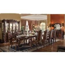 Acme United Vendome Cherry Antique Traditional Formal Design 11pcs Dining Set Table W Leaf Arm