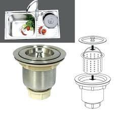 kohler sink strainer brushed nickel stainless steel kitchen bar sink stopper drain waste strainer