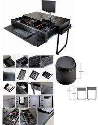 lian li dk 02 black aluminum computer desk computer case with