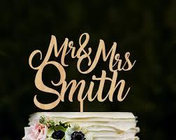 Cake Topper For Wedding Custom Mr Mrs Name Rustic