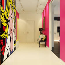 Home Designs: Wall Pop Art 10 - Modern Pop Art Style Apartment ... Bedroom Modern Bed Designs Wall Paint Color Combination Pop For Home Art 10 Style Apartment Of Design 24 Ceiling And Suspended Living Room Dma Homes 1927 Putty Pic With And Trends Outstanding On Drawing Photos Best Stunning Gallery Images Hamiparacom Idea Home Surprising 52 In Image With Design For Bedroom Wall 3d House