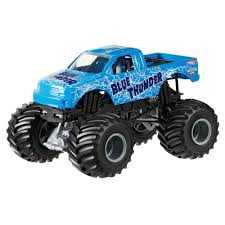 100 Monster Jam Toy Truck Videos Hot Wheels Blue Thunder DieCast Vehicle 124 Scale