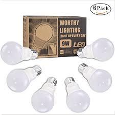 led light bulbs 60 75 watt equivalent 9w a19 a60 e26 led