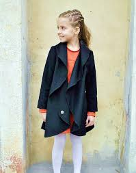 wool coat girls wide collar coat big collar coat toddlers