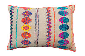 Appealing Bohemian Outdoor Pillows For Your Accent Pillow Decor Idea Beautiful Colorful Embroidered Linen