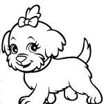 Endorsed Coloring Pictures Of Dog Kawaii Pages Print