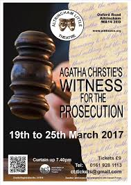 Altrincham Little Theatre WITNESS FOR THE PROSECUTION by Agatha