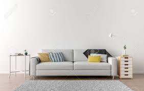 leere wohnzimmer mit weißen wand im hintergrund 3d darstellung