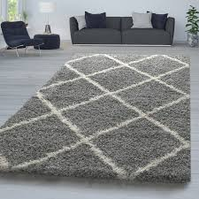 hochflor teppich shaggy für wohnzimmer skandi design u