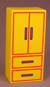 bureau playmobil playmobil 123 yellow closet with drawers doors pattern