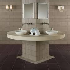 American Olean Chloe Mosaic Tile by This American Olean Bathroom Features Avenue One Municipal Gray