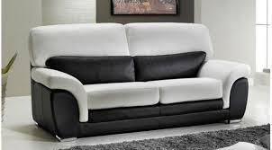 canap bicolore canapé 2 places en cuir noir et blanc pas cher canapé design