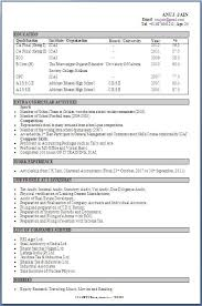 Resume Format For Mechanical Engineering Students Pdf Fresher Accountant Sample Into Anysearch Co Of