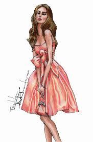 Bell Shaped Taffeta Dress Part 1 Advanced Fashion Design Drawing Tutorial
