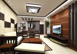 Wood TV Wall And Wooden Furniture For Living Room