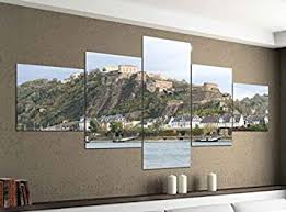 de acrylglasbilder 5 teilig 200x100cm festung