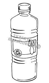 Sports Water Bottle Clipart Black And White