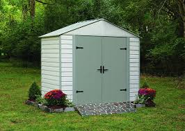 Vinyl Storage Sheds Menards by Amazon Com Arrow Shed Viking Vinyl Coated Steel Shed 10