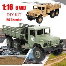 100 Rc Military Trucks WPL B16 116 24G 6WD OffRoad RC Truck Rock Crawler DIY