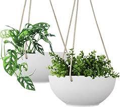 la jolié muse weiße hängetöpfe für pflanzen 20 5cm blumentöpfe für drinnen und draußen pflanzenbehälter mit abflusslöchern pflanzentöpfe zum