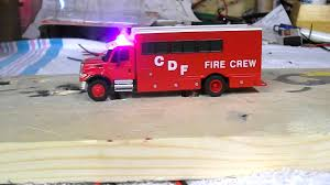 100 Boley Fire Trucks Lighted HO 187 International 7000 Crew Truck CDF YouTube
