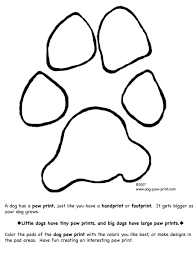 Dog Coloring Pages Paw Print