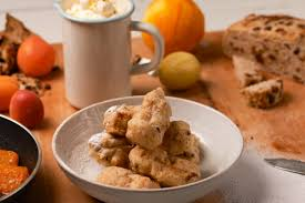 Brambrack Fritters With Roast Apricots & Lemon Mascarpone Cream ... Barm Brack Irish Fruit Bread Glutenfree Dairyfree Eggfree Brack Cake 100 Images Tea Soaked Raisin Bread Recipe Pnic Barmbrack You Need To Try This Cocktail Halloween Lovinie Homebaked Glutenfree Eat Like An Actress Recipe Brioche Enriched Dough Strogays Saving Room For Dessert Wallflower Kitchen Real