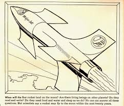 The Rocket Designs Are Not That Innovative But Illustrations Show Rockets Orbiting Above Earths Surface Along With Caption Promising
