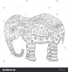 Gorgeous Ideas Elephant Coloring Book Hand Drawn Page Stock Vector 334948220