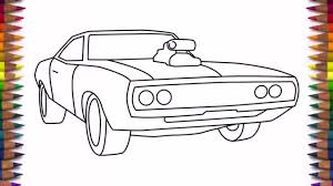 simple car drawing for kids how to draw a car dodge charger step step easy