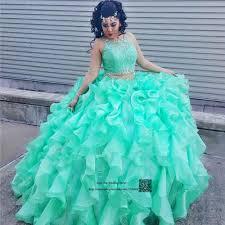 aliexpress com buy princess turquoise 2 piece quinceanera
