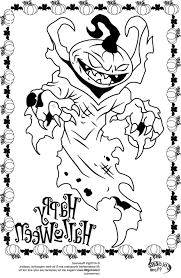 Scary Halloween Coloring Pages Online by Scary Halloween Coloring Pictures 30 Secondswaandj