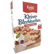 kathi kleiner blechkuchen kirsch pudding backmischung 400 g