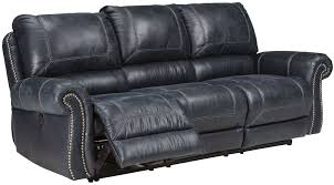 Claremore Sofa And Loveseat by Milhaven Navy Reclining Sofa From Ashley Coleman Furniture