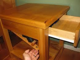 hidden gun storage custom made bedside table with secret
