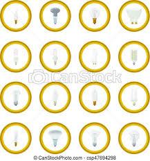 light bulb icon circle isolated vector illustration eps