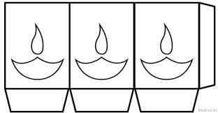 Free Diwali Paper Lantern Craft Templates